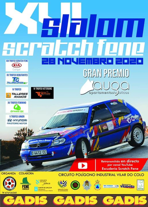 Cartel oficial do XVI Slalom Scratch Fene